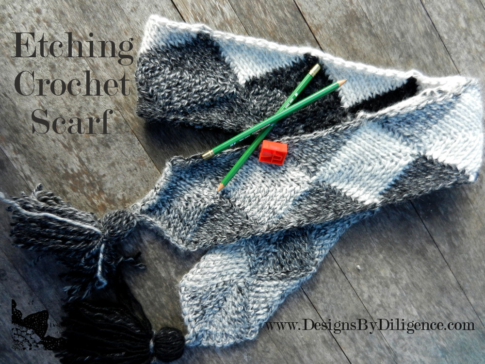 Designs By Diligence Etching Scarf