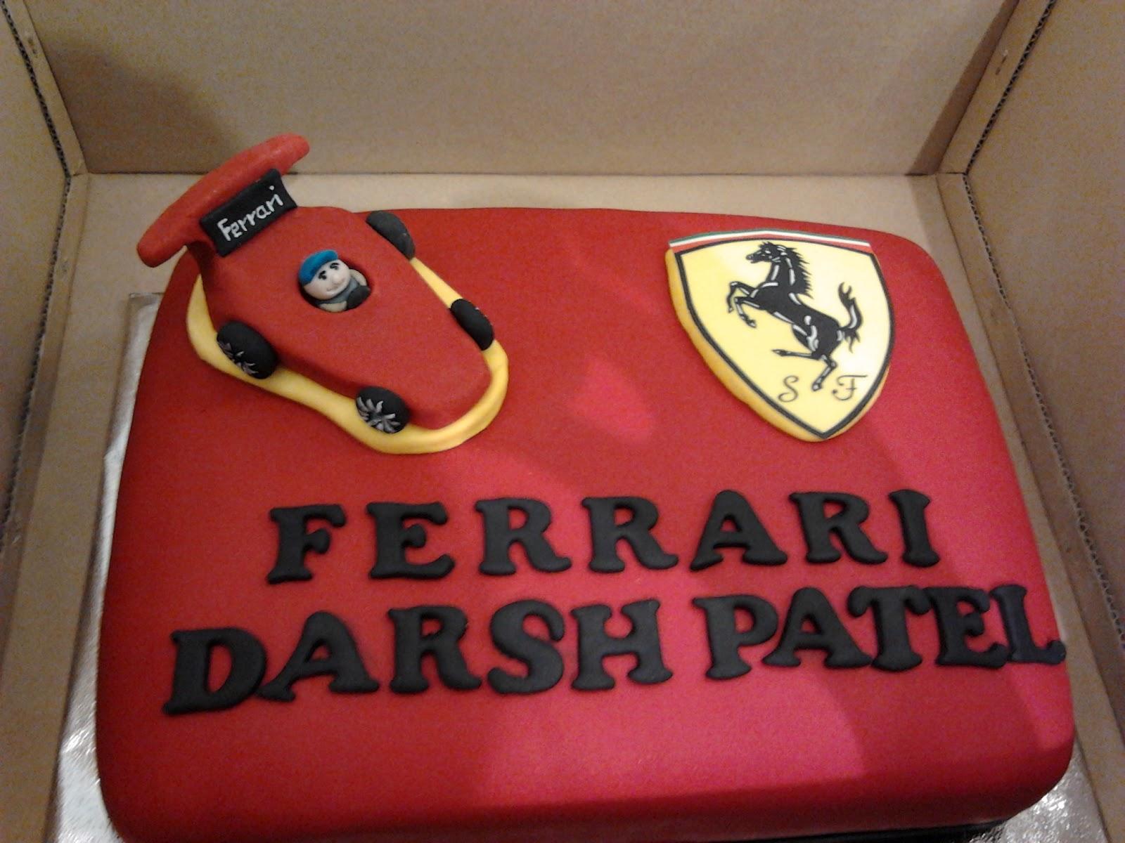 Ferrari Fondant Cake For My Nephew Brocade Blue