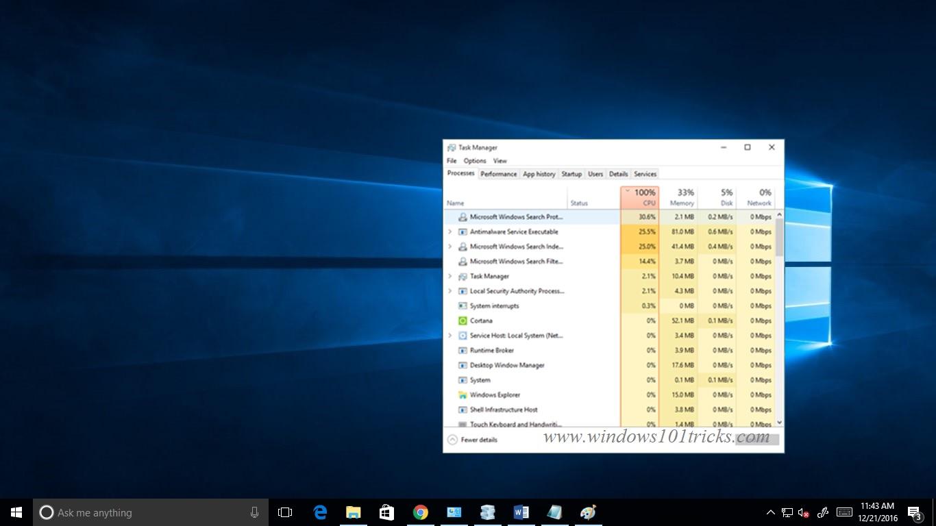 Fix System Idle Process High CPU usage problem on Windows 10 - Winfixs