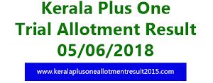 Kerala Plus one trial allotment result 2018 [HSCAP Kerala]