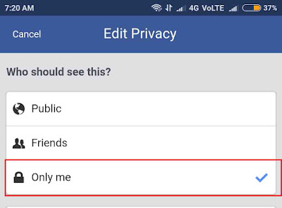 Hide Facebook friends list from mobile