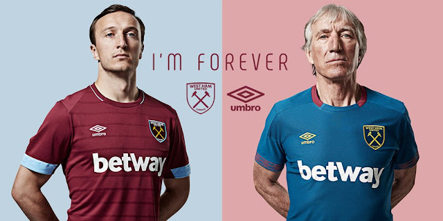 West Ham United 2018/19 home away Kit umbro