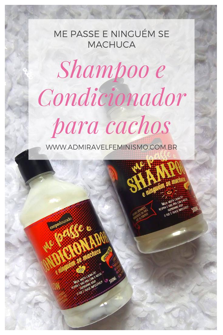 Admirável Feminismo - shampoo e condicionador para cachos