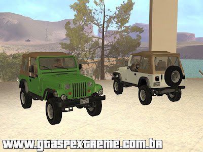 Jeep Wrangler Convertible para GTA San Andreas