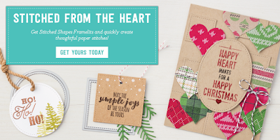 New Stampin' Up! Uk Stitched from the Heart Dies Available here