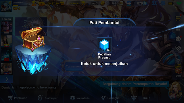 Mobile game Heroes Arena/Arena Pahlawan Dengan Empat Skill