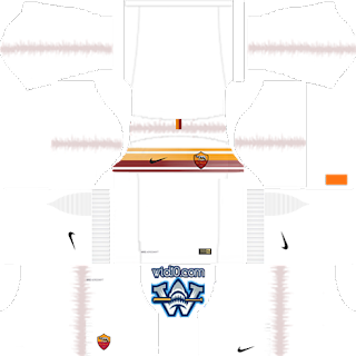 AS Roma dls forma, AS Roma 2019 dls kit, AS Roma 2018-2019 fts kit logo.