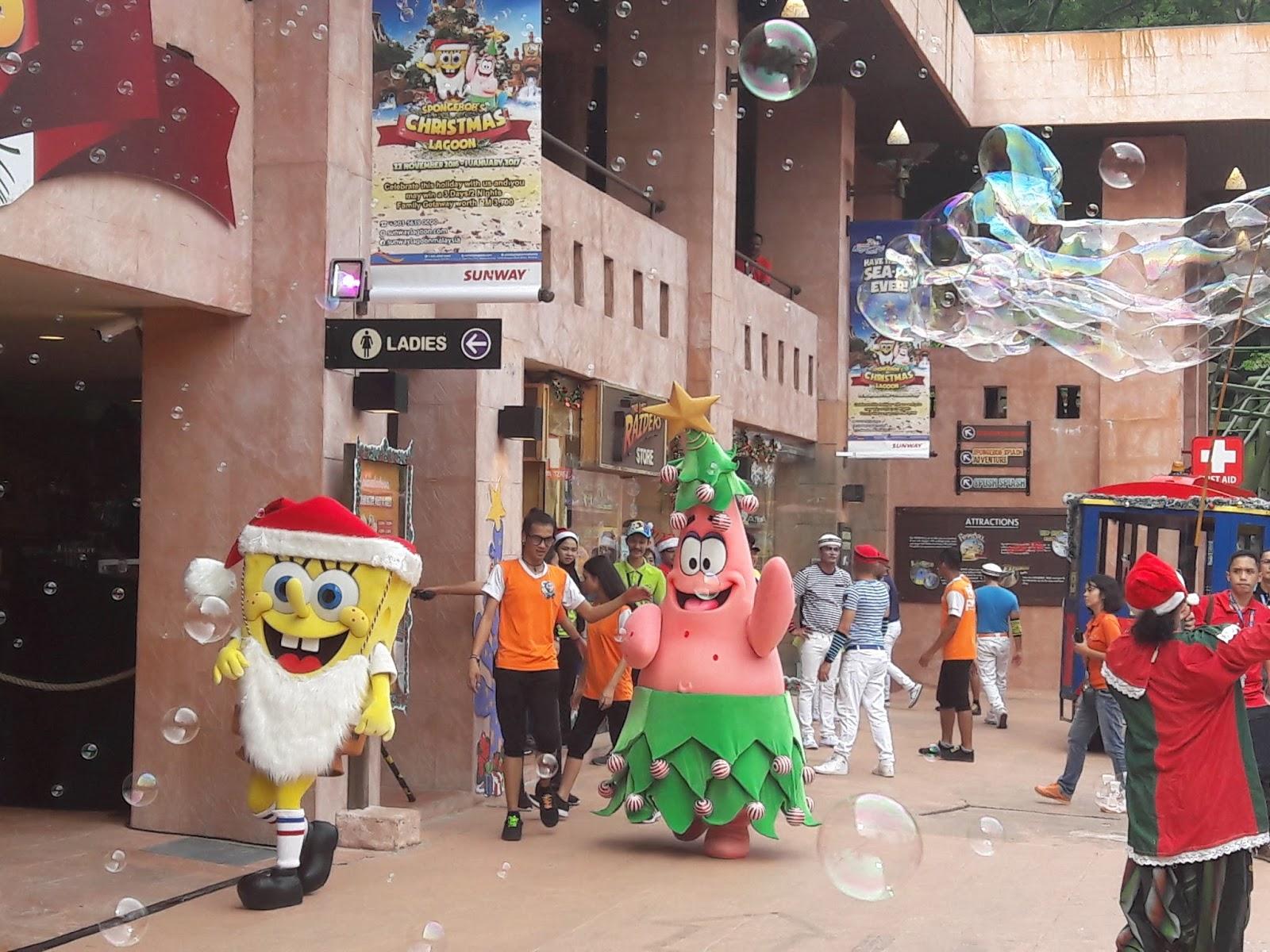 My Blogs: SpongeBob's Christmas Lagoon At Sunway Lagoon