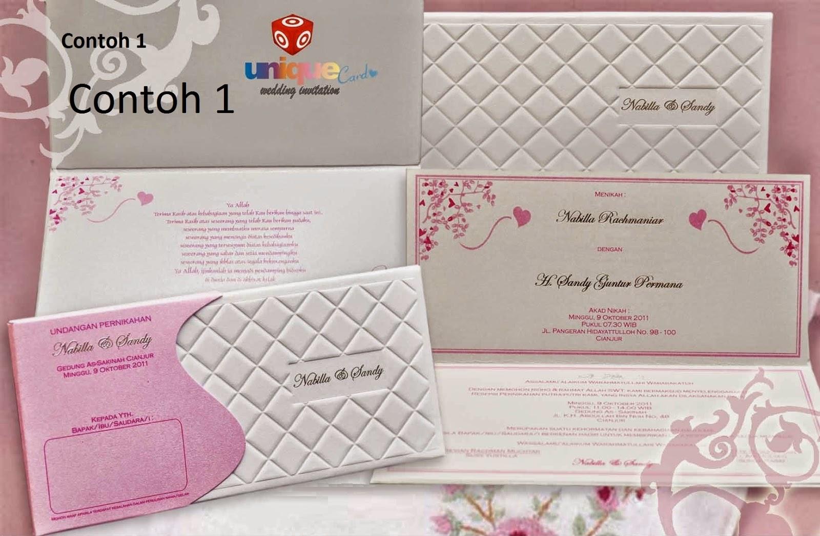 undangan pernikahan unik 2015