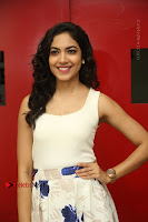 Actress Ritu Varma Stills in White Floral Short Dress at Kesava Movie Success Meet .COM 0014.JPG