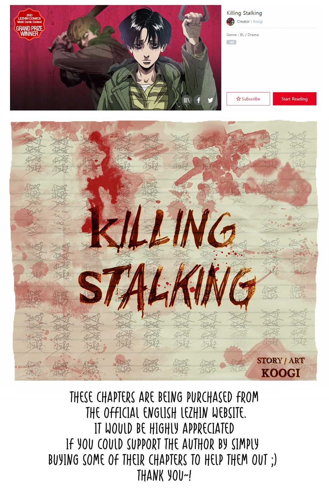 Killing Stalking - Chapter 18