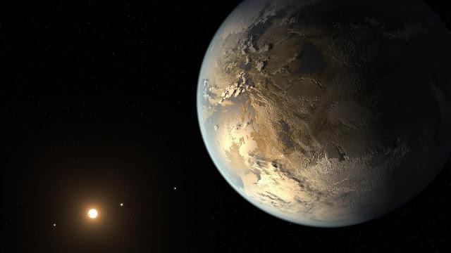 Concepção artística do suposto planeta Kepler 186f