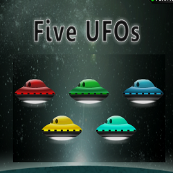 5 UFOs Memory Game