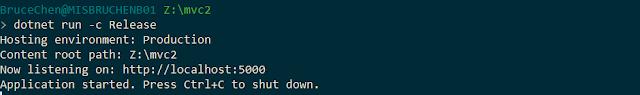 dotnet run release