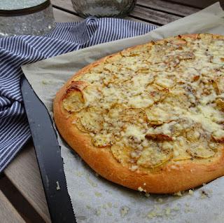 receta de focaccia de patata y queso emmental en thermomix