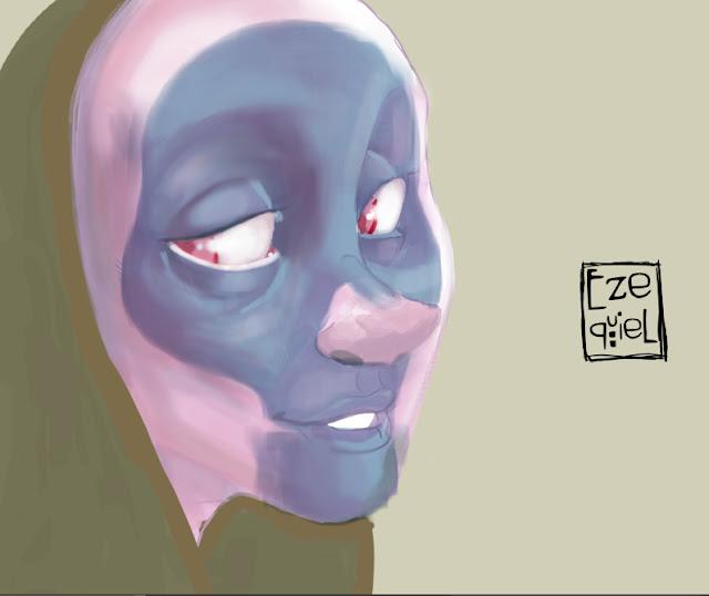La muerte azul Ezequiel Tadeo sketch Digital Art