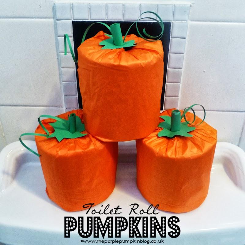 Toilet Roll Pumpkins #CraftyOctober #Halloween #Fall
