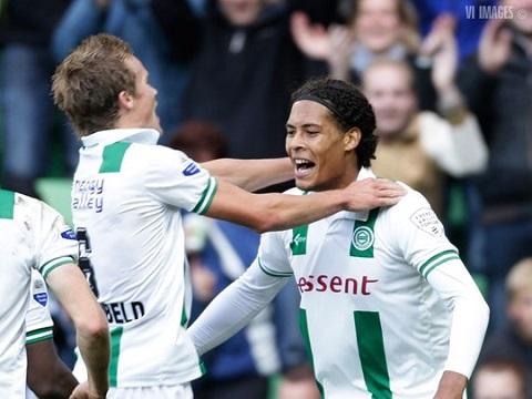 Van Dijk thời còn chơi cho  câu lạc bộ Gronnigen