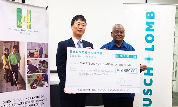 BAUSCH + LOMB RM8800 Cheque Presentation Ceremony For Malaysian Association for the Blind