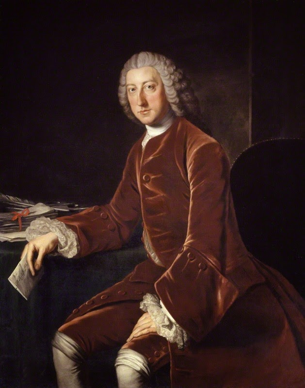 William Pitt, 1st Earl of Chatham,  studio of William Hoare, oil on canvas (c1754)  © NPG 1050 (1)