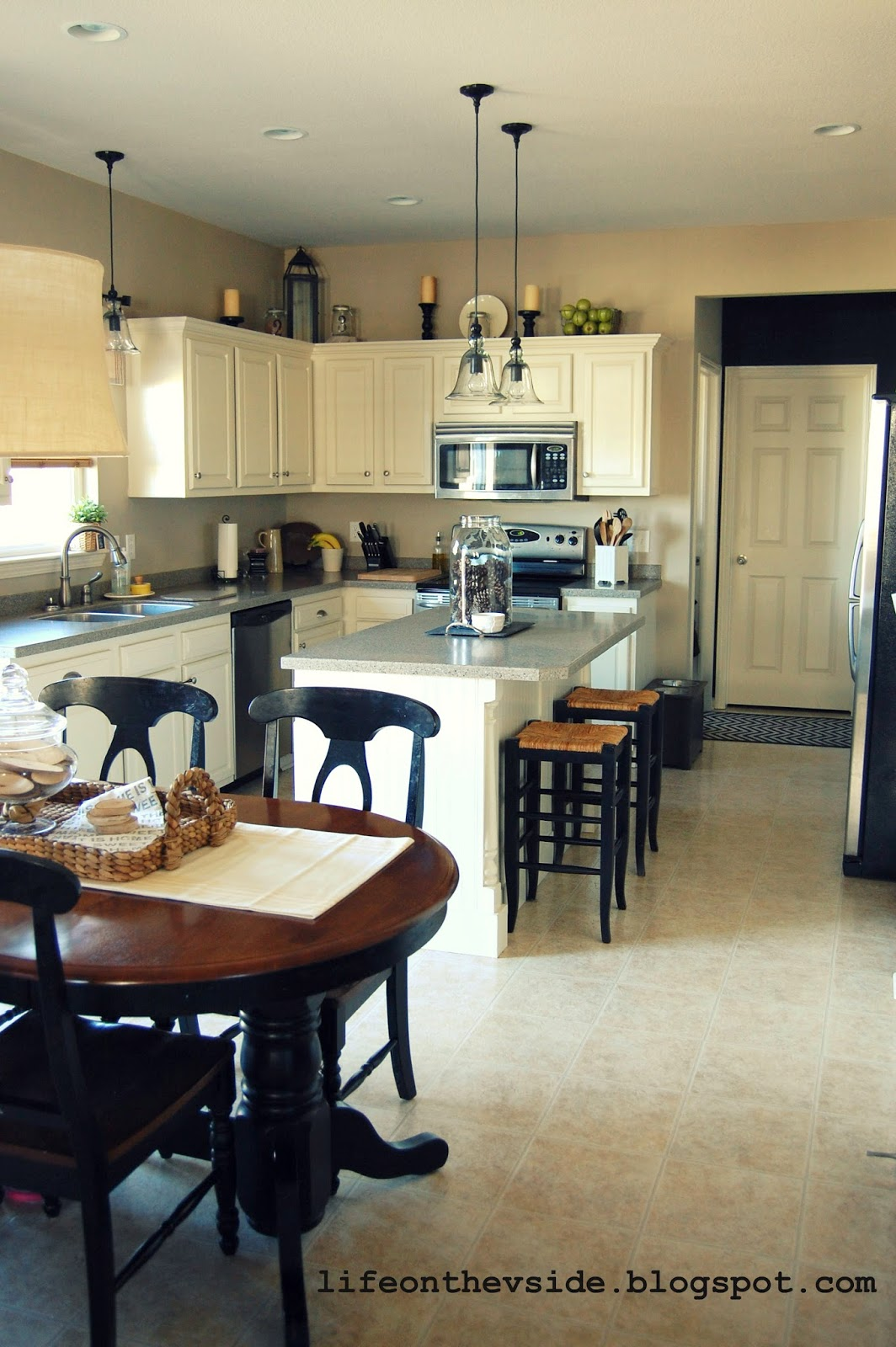 On The V Side Painted Kitchen Cabinets Pros Cons