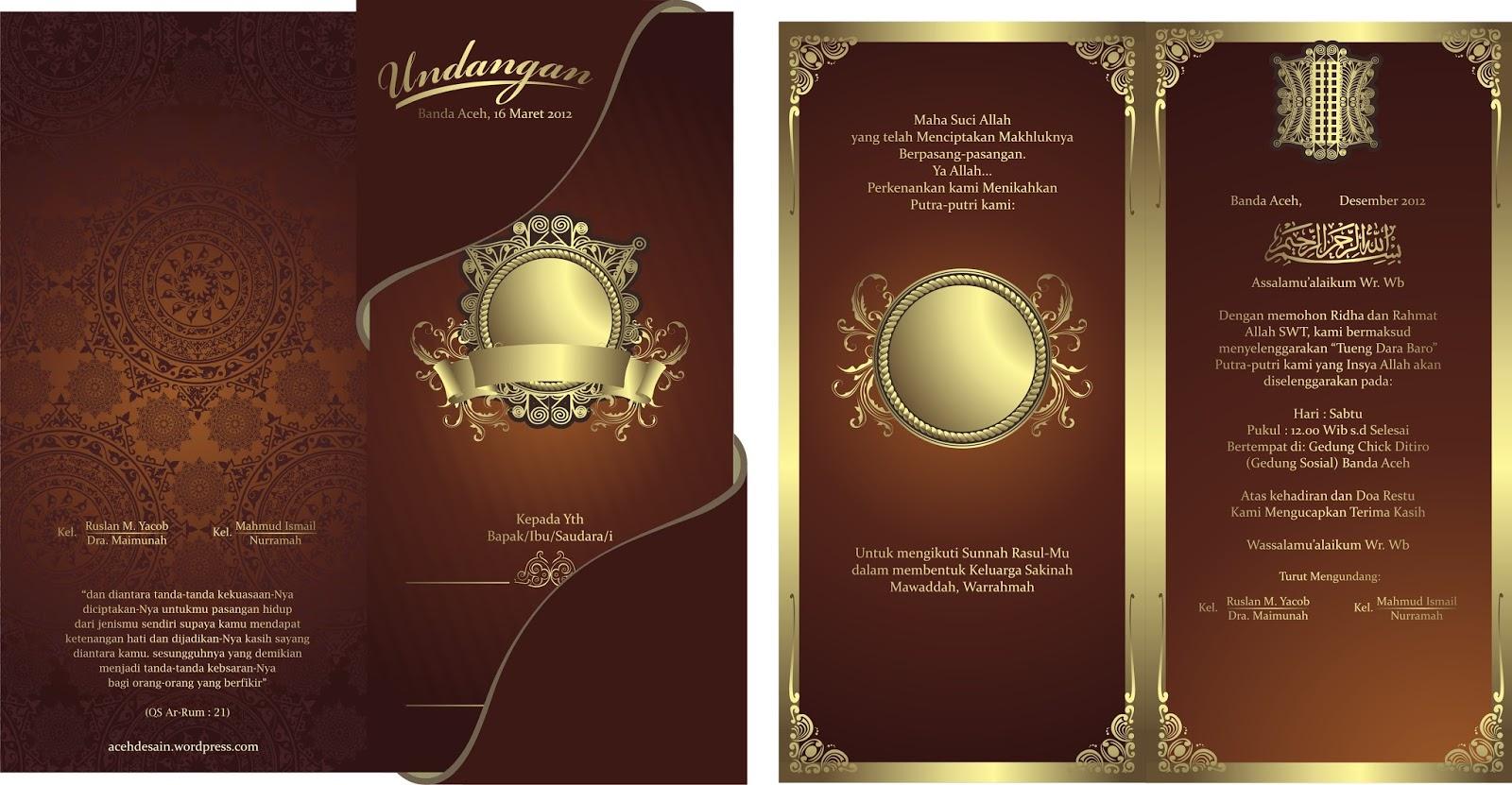 Download Gratis Desain Undangan Pernikahan Gratis