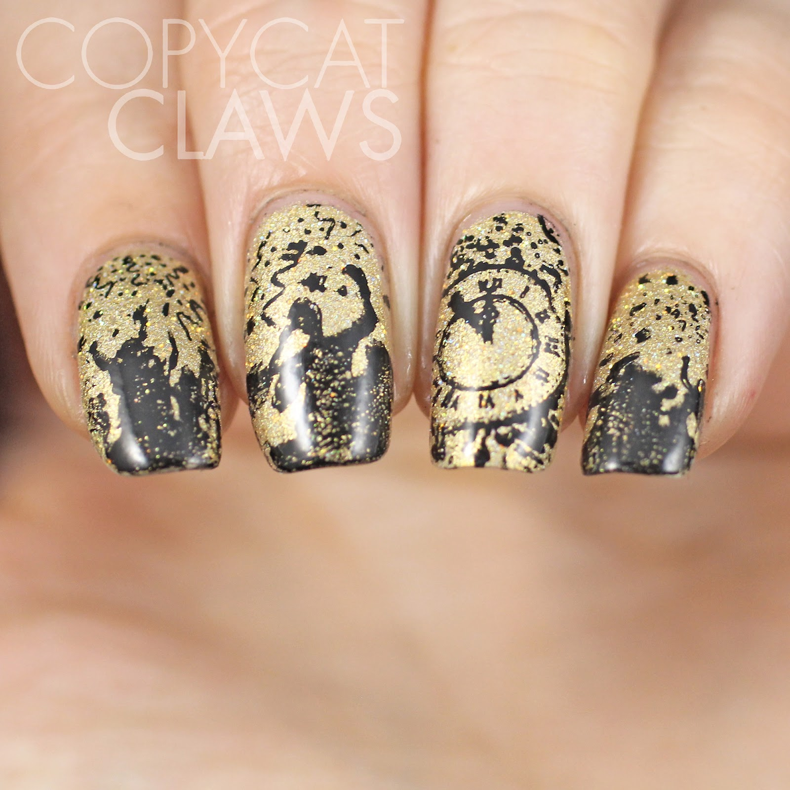 Copycat Claws: Sunday Stamping - Happy New Year 2015