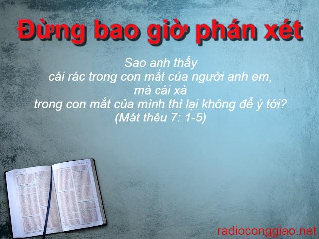 Sống Sứ Điệp 2: Đừng bao giờ phán xét, vì đó là một tội giả hình mà Ta ghê tởm