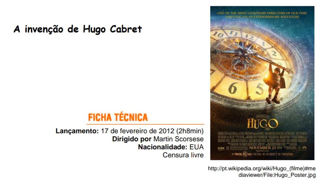 Cafe Literario Atividade Avaliativa Filme A Invencao De Hugo