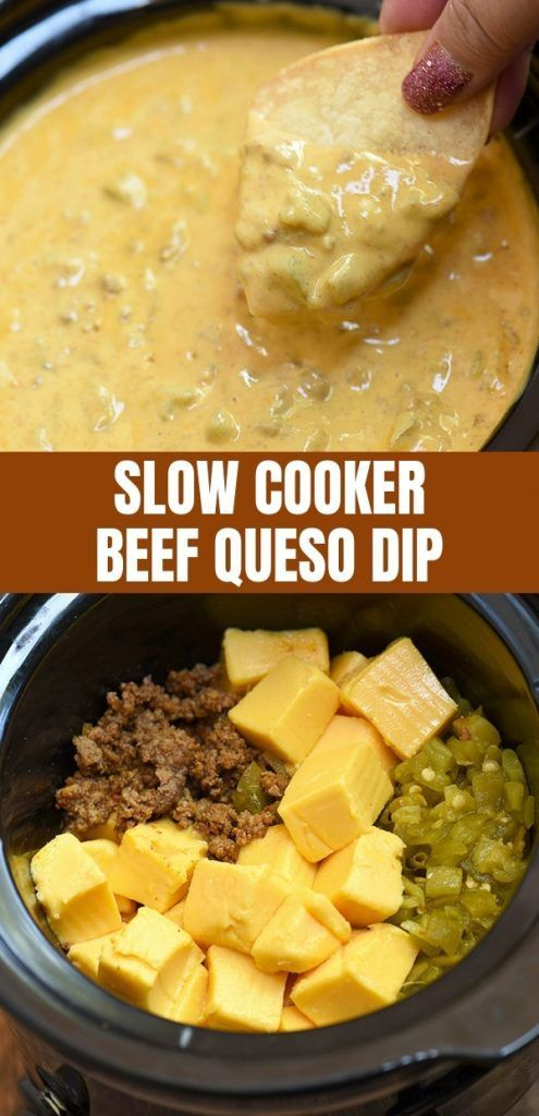 New Slow Cooker Beef Queso Dip