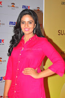 Sree Mukhi in Pink Kurti looks beautiful at Meet and Greet Session at Max Store (26).JPG