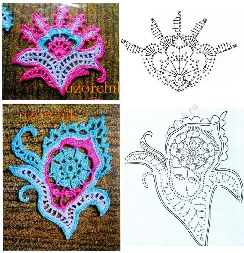 Clase y Patrones de Crochet de los Eternos Paisley