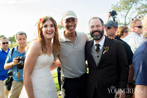 Photos: Barack Obama remains at a wedding!