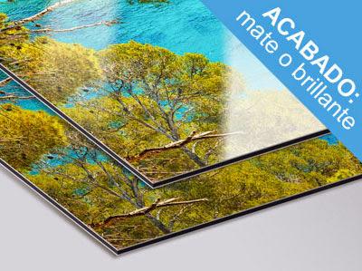 Tu póster en una excepcional y moderna base de aluminio