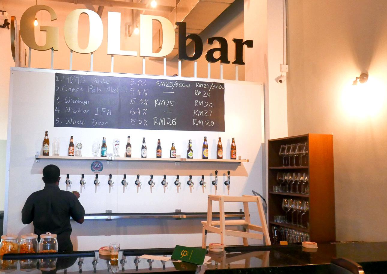 Eat drink kl mars kota damansara gold bar tropicana for Food bar kota damansara