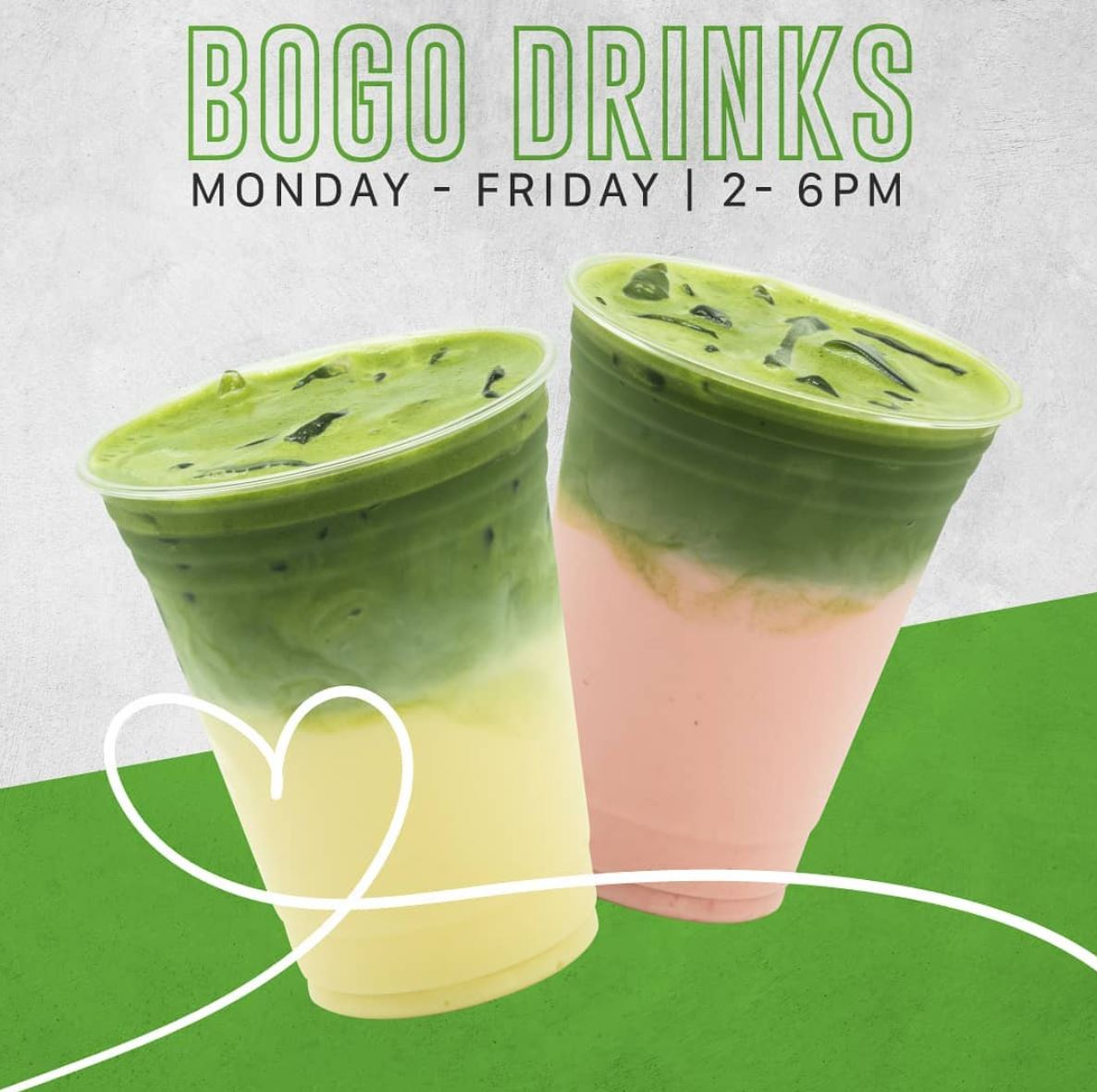 All January | All Drinks are BOGO Free @ All Mr. Matcha Locations!