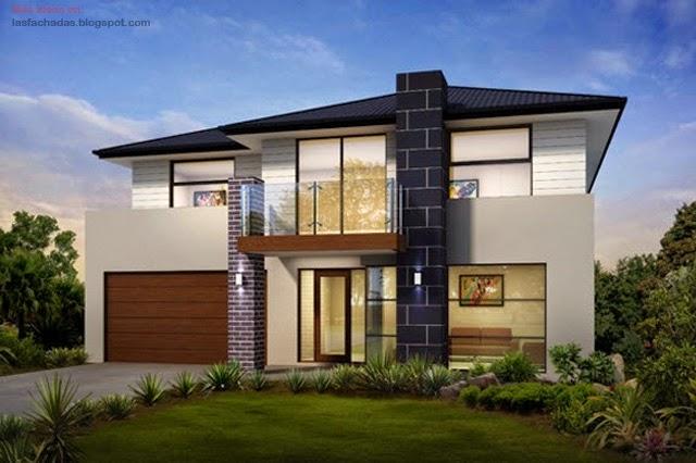 Fachadas de casas de dos pisos modernas fachadas de for Fachadas viviendas modernas