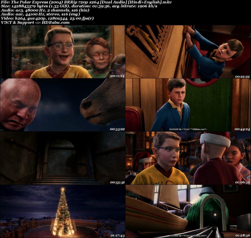 The Polar Express (2004) BRRip 720p x264 [Dual Audio] [Hindi+English] Screenshot