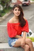 Rhea Chakraborty in Red Crop Top and Denim Shorts Spicy Pics ~  Exclusive 337.JPG