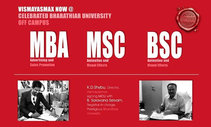 MOU - Signing - Vismayasmax Animations with Bharathiar University..!!