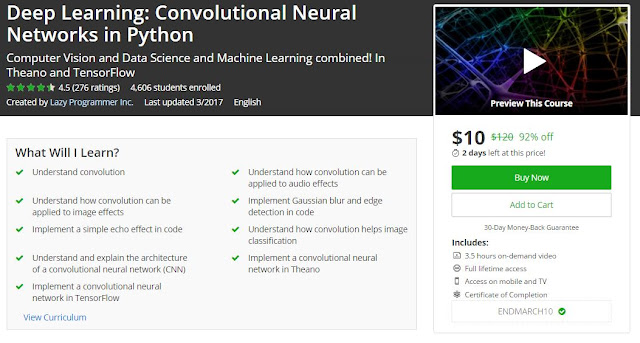 Udemy 92% Off] Deep Learning: Convolutional Neural Networks in