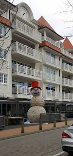 Not a wacky waving inflatable, but a decent looking snowman Christmas decoration