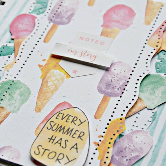 papier do scrapbookingu summertime