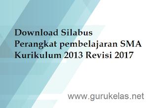 Download Silabus Perangkat pembelajaran SMA Kurikulum 2013 Revisi 2017