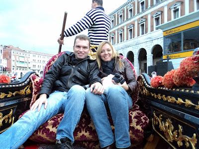 Karla e Lú na gôndola - Veneza