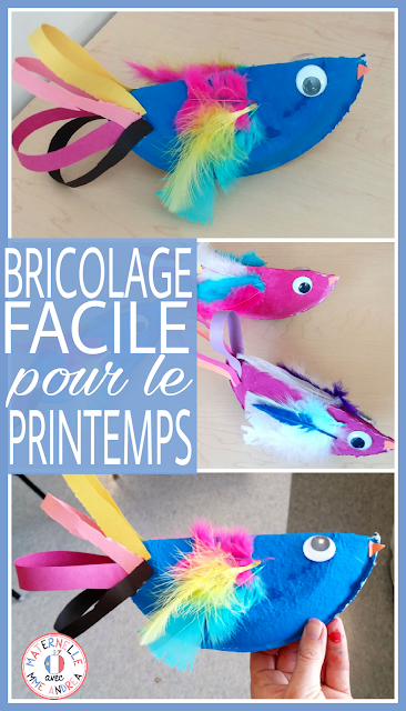 Un bricolage du printemps facile mais beau pour les élèves de la maternelle - a quick and easy spring art project for kindergarten