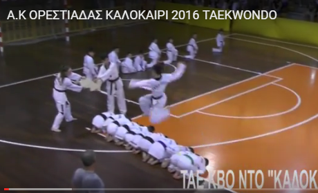 A.K ΟΡΕΣΤΙΑΔΑΣ ΚΑΛΟΚΑΙΡΙ 2016 TAEKWONDO