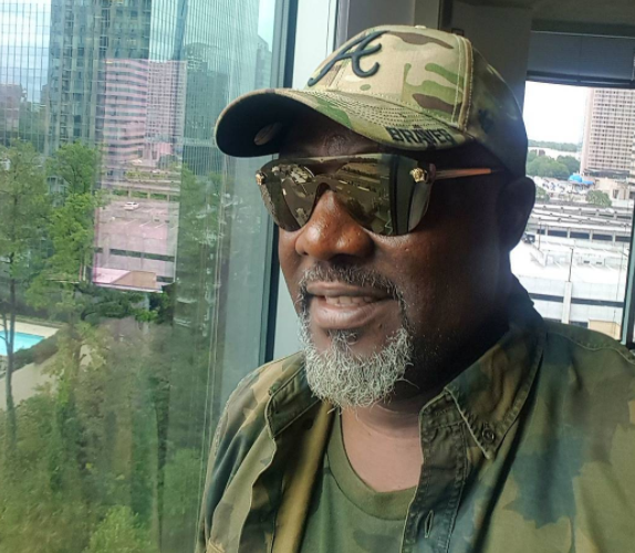 'I'm ready for all the bad people' - Dino Melaye says as he rocks military outfit (photos)