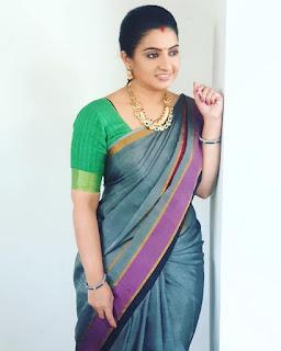 Actress Sujitha Dhanush Latest Saree Pics