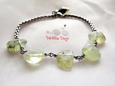 Minlet with Prehnite by WireBliss